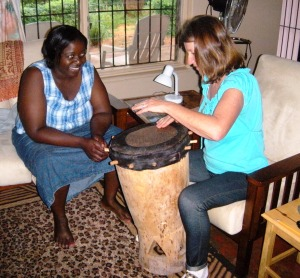Drum lesson from Mrs. Bandama
